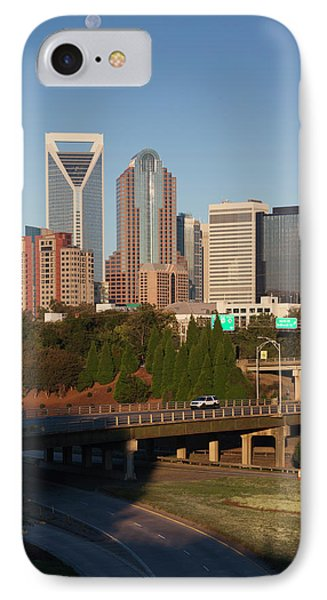North Carolina, Charlotte, Elevated IPhone Case by Walter Bibikow