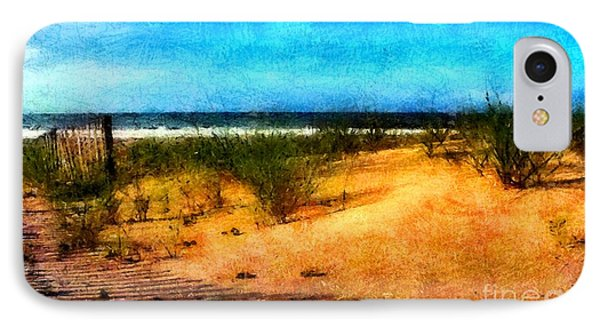 IPhone Case featuring the painting North Carolina Coast by Elizabeth Coats