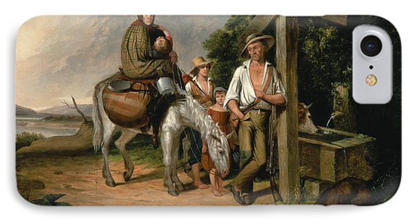 North Carolina Emigrants, Poor White Folks, 1845 Oil On Canvas IPhone Case by James Henry Beard