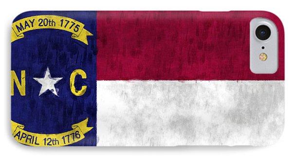 North Carolina Flag Phone Case by World Art Prints And Designs
