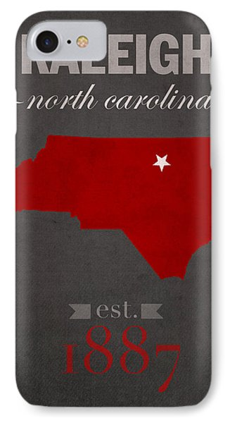 North Carolina State University Wolfpack Raleigh College Town State Map Poster Series No 077 IPhone Case