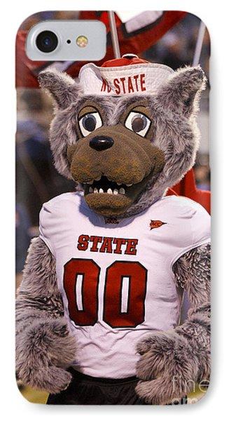 North Carolina State Wolfpack Mascot IPhone Case by Jason O Watson