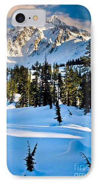 North Cascades Winter Phone Case by Inge Johnsson