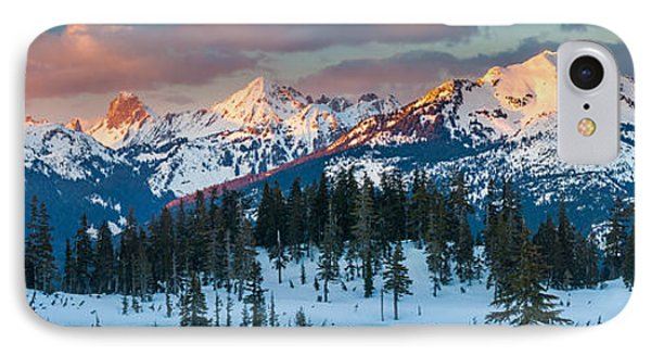 North Cascades Winter Panorama IPhone Case
