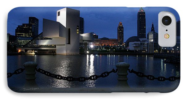 IPhone Case featuring the photograph North Coast Harbor On A Stormy Night by Terri Harper