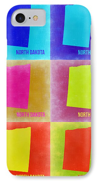 North Dakota Pop Art Map 2 IPhone Case by Naxart Studio