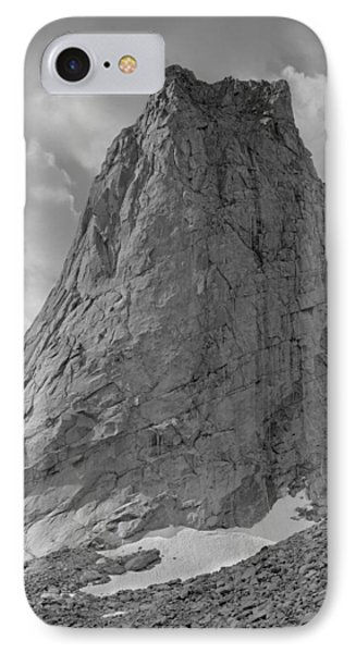 109649-bw-north Face Pingora Peak, Wind Rivers IPhone Case