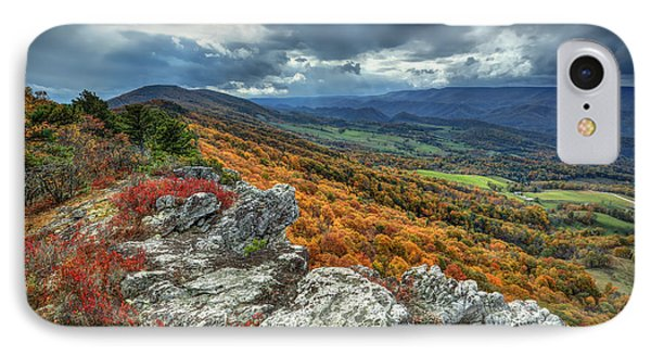 North Fork Mountain Overlook IPhone Case by Jaki Miller