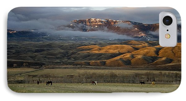 North Fork Pasture-signed IPhone Case by J L Woody Wooden