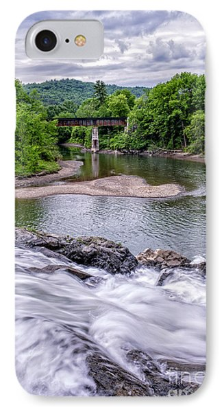 North Hartland Vermont Swimming Hole IPhone Case by Edward Fielding