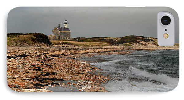 IPhone Case featuring the photograph North Light Block Island by Nancy De Flon