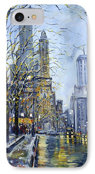 North Michigan Avenue IPhone Case by Alexandra Maria Ethlyn Cheshire