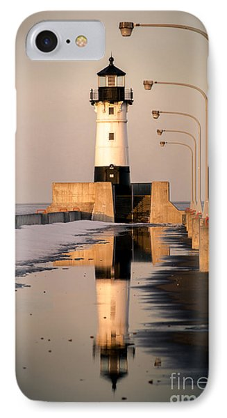 North Pier Sunset Melt IPhone Case by Mark David Zahn