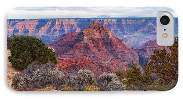 North Rim Grand Canyon Arizona Desert Southwest Solitude At Cape Royal IPhone Case by Silvio Ligutti