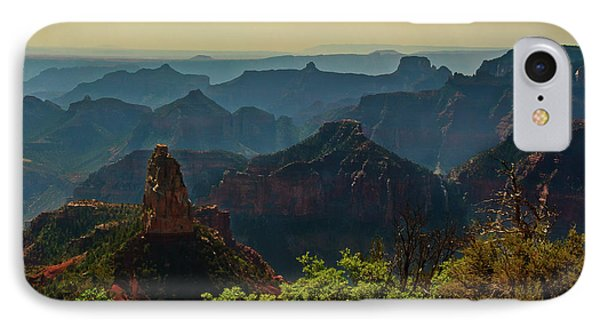 IPhone Case featuring the photograph North Rim Grand Canyon Imperial Point by Bob and Nadine Johnston