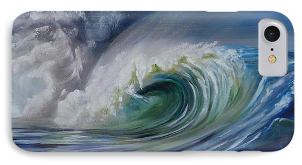 IPhone Case featuring the painting North Shore Curl by Donna Tuten