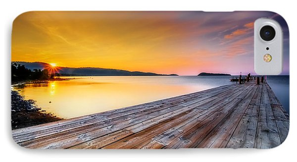IPhone Case featuring the photograph North Shore Sunrise Grand Portage Mn by RC Pics