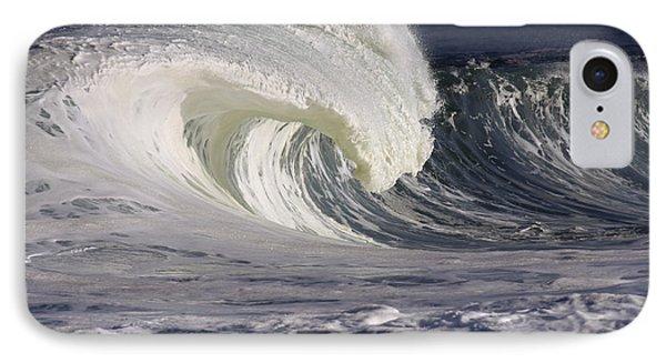 North Shore Wave Curl Phone Case by Vince Cavataio