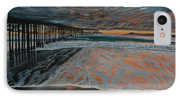 IPhone Case featuring the painting North Side Of The Ventura Pier by Ian Donley