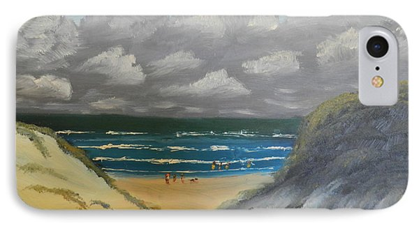 IPhone Case featuring the painting North Windang Beach by Pamela  Meredith