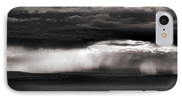 North Wyoming Thunder Shower IPhone Case by Leland D Howard