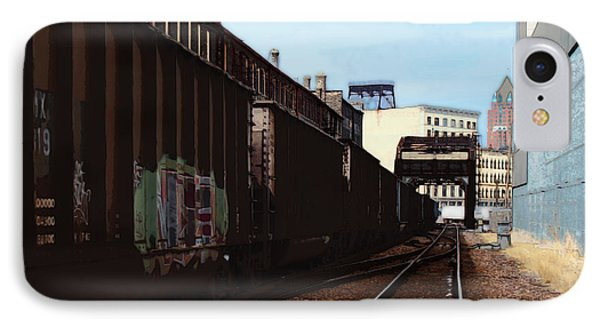 Northbound Freight To Milwaukee IPhone Case by David Blank
