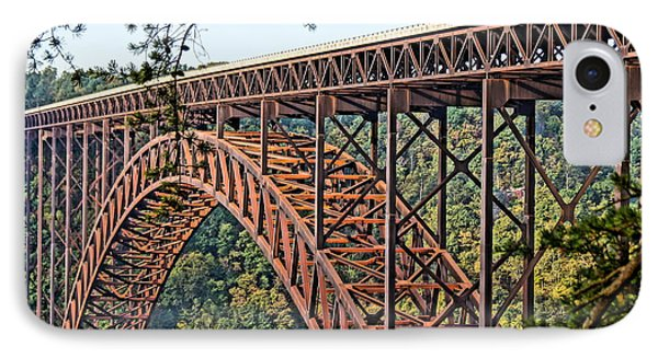 Northeast Close-up Of New River Gorge Bridge Phone Case by Timothy Connard