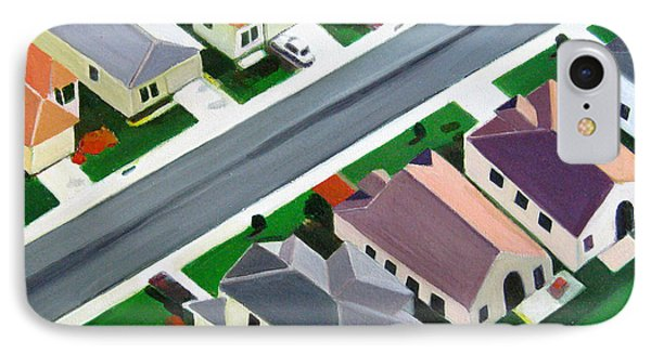Northeast Suburb  IPhone Case by Toni Silber-Delerive