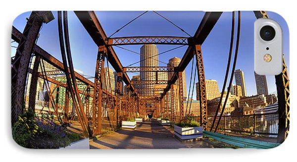 Northern Avenue Bridge Phone Case by Joann Vitali