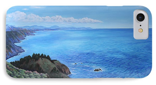 Northern California Coastline IPhone Case by Penny Birch-Williams