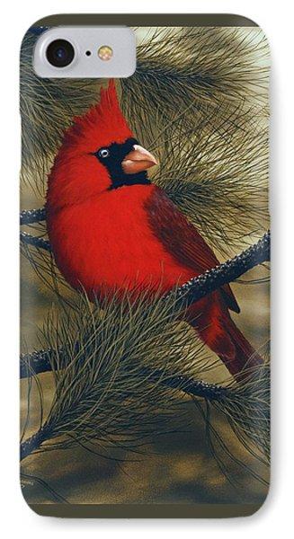 Northern Cardinal IPhone Case by Rick Bainbridge