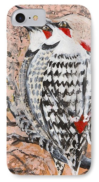 IPhone Case featuring the painting Northern Flickers by Cathy Long