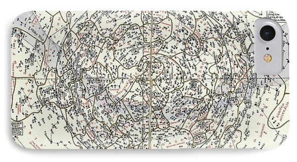 Northern Hemisphere Star Chart IPhone Case by Library Of Congress, Geography And Map Division