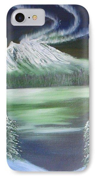 IPhone Case featuring the painting Northern Lights by Saranya Haridasan