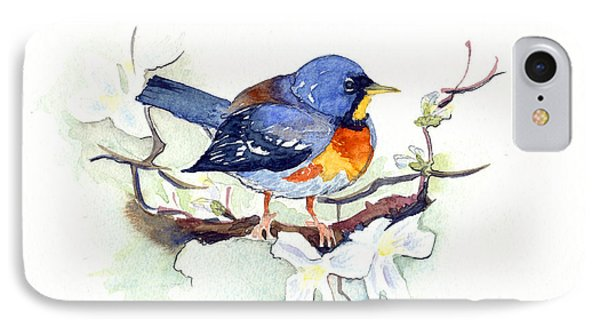 IPhone Case featuring the painting Northern Parula by Katherine Miller