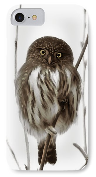 Northern Pygmy Owl - Little One IPhone Case by Beve Brown-Clark Photography