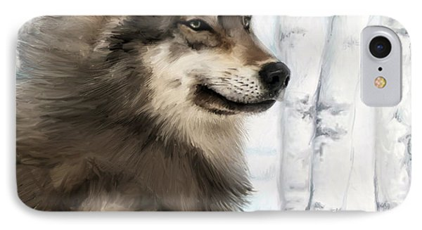 Northern Rocky Wolf... IPhone Case by Mark Tonelli
