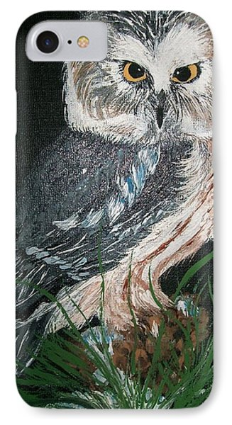 Northern Saw-whet Owl Phone Case by Sharon Duguay