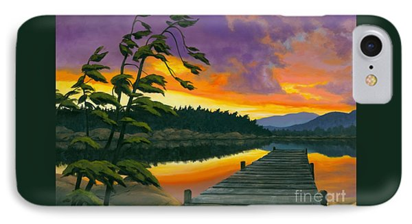 After Glow - Oil / Canvas IPhone Case by Michael Swanson