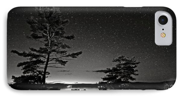 Northern Starry Sky Black White IPhone Case by Charline Xia