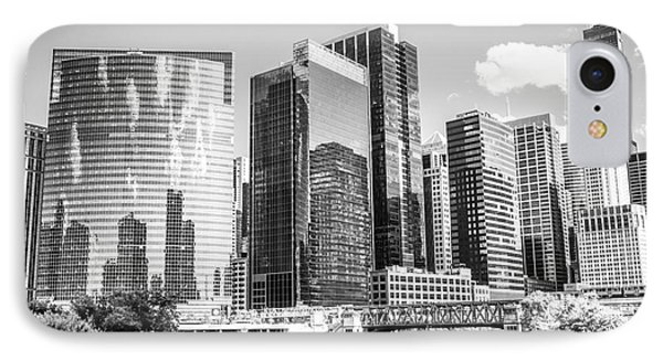 Northwest Chicago Loop Buildings Black And White Photo IPhone Case by Paul Velgos