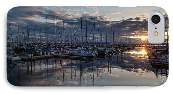 Northwest Marina Sunset Sunstar IPhone Case