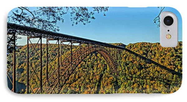 Northwest View Of Gorge Bridge Phone Case by Timothy Connard
