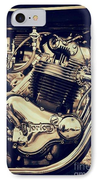 Norton Commando 750cc Engine IPhone Case by Tim Gainey