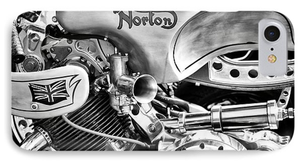 Norton Custom Cafe Racer Monochrome IPhone Case by Tim Gainey