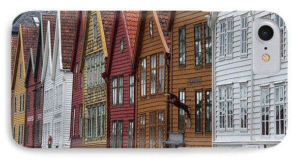 Norway, Bergen Warehouse Architecture IPhone Case by Kymri Wilt