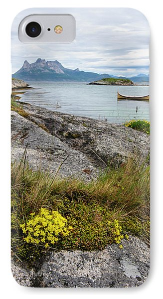 Norway Rock Slab With Sedum Sp IPhone Case by Fredrik Norrsell