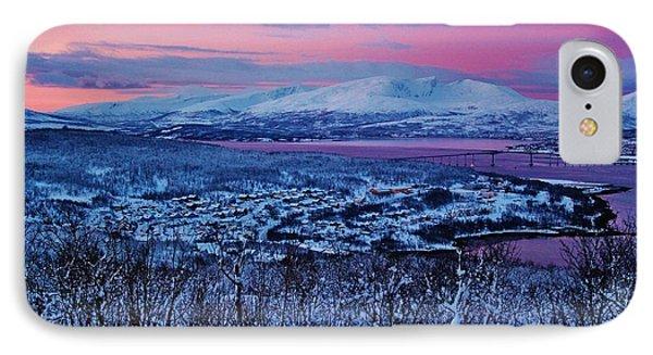 Norwegian Arctic Twilight Phone Case by David Broome