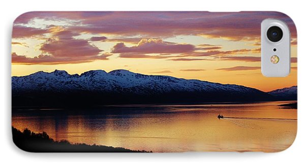 Norwegian Fjordland Sunset Phone Case by David Broome