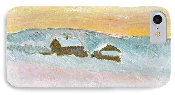 Norwegian Landscape, Blue Houses, 1895 IPhone Case by Claude Monet